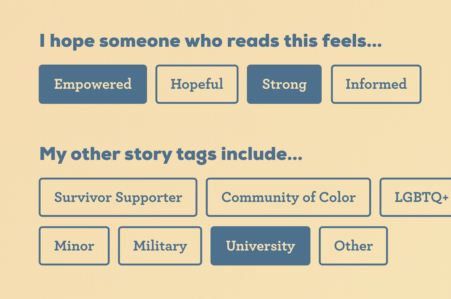 Our Wave Share Story Tags